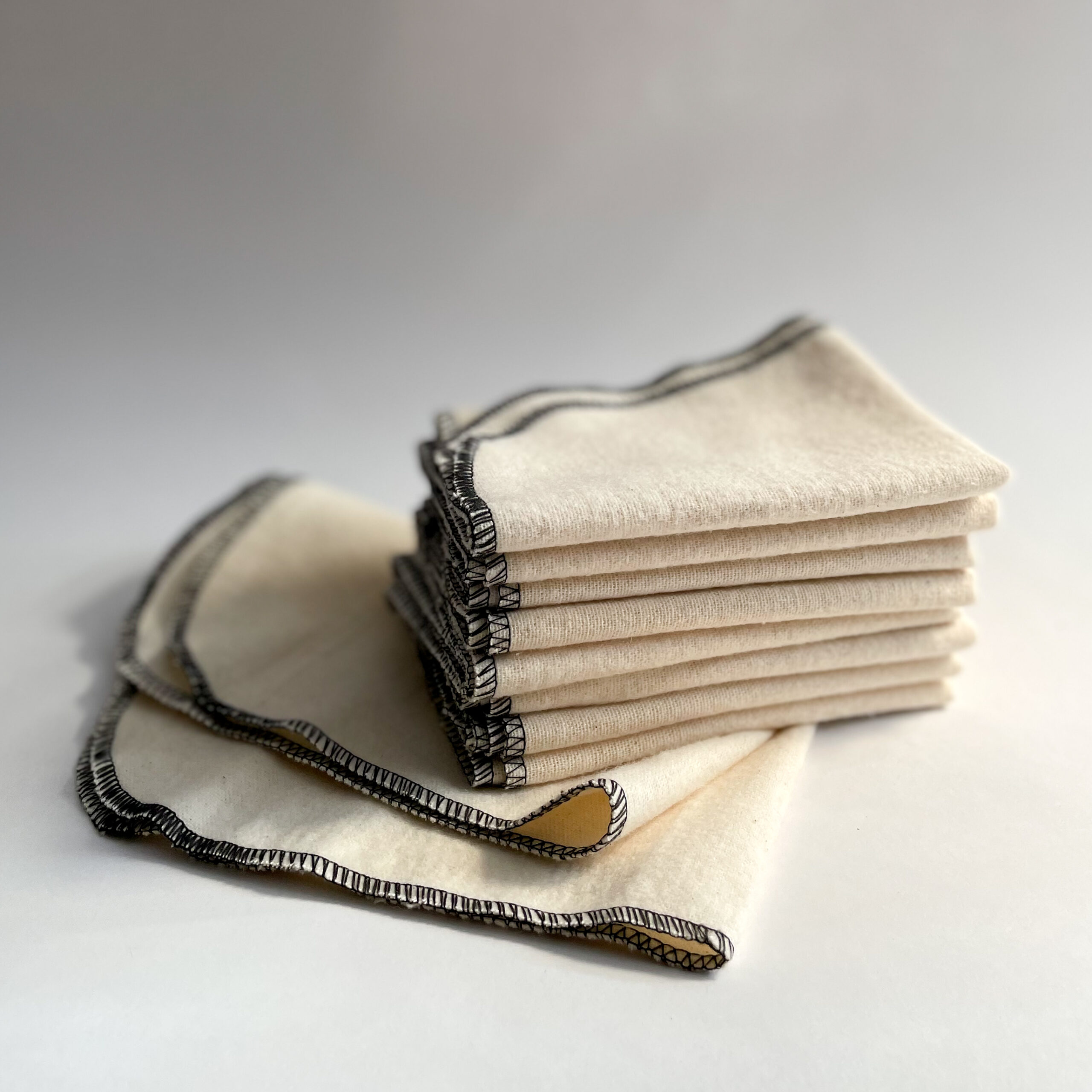 A stack of Famaco Shine Cloths
