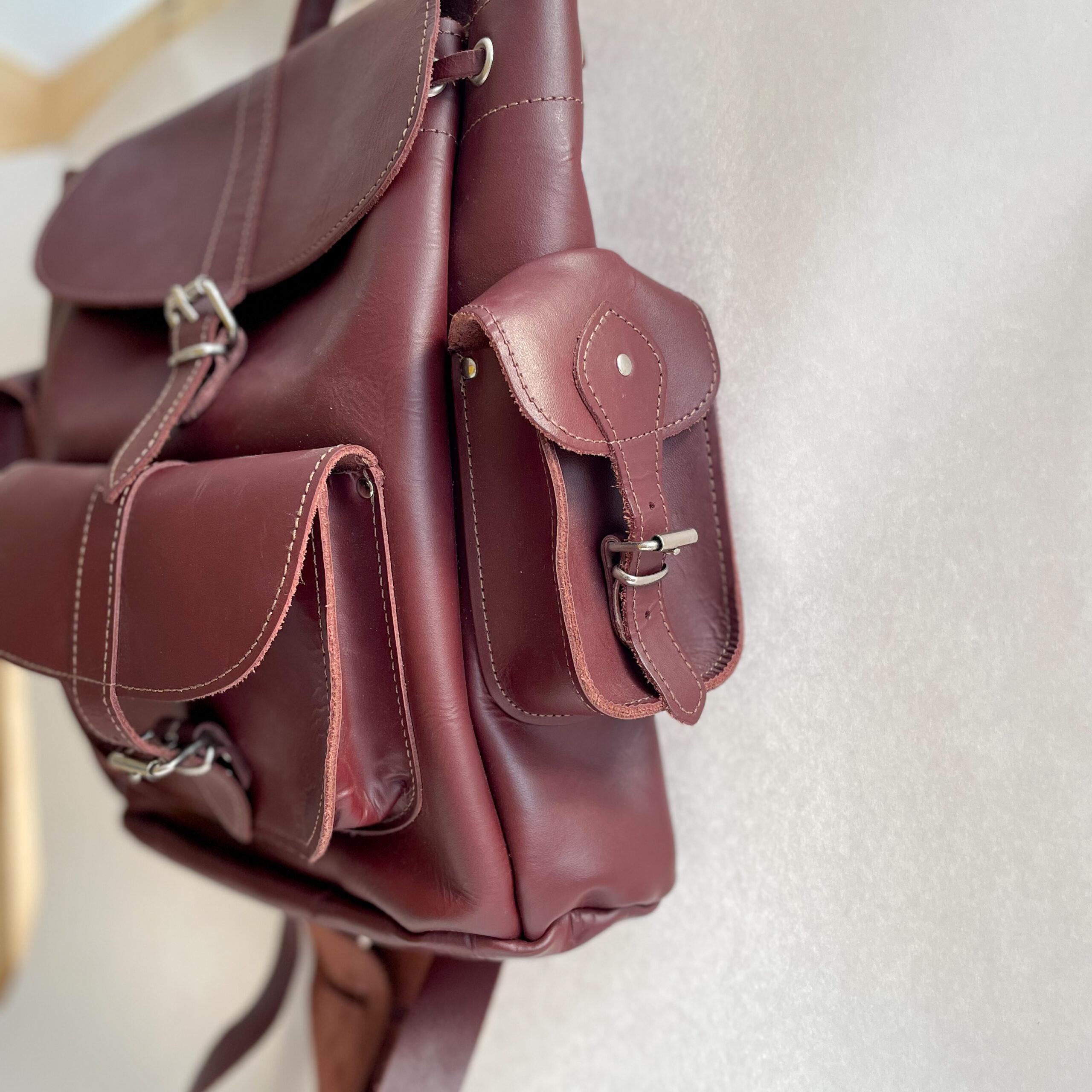 Left pocket side of Grafea Backpack