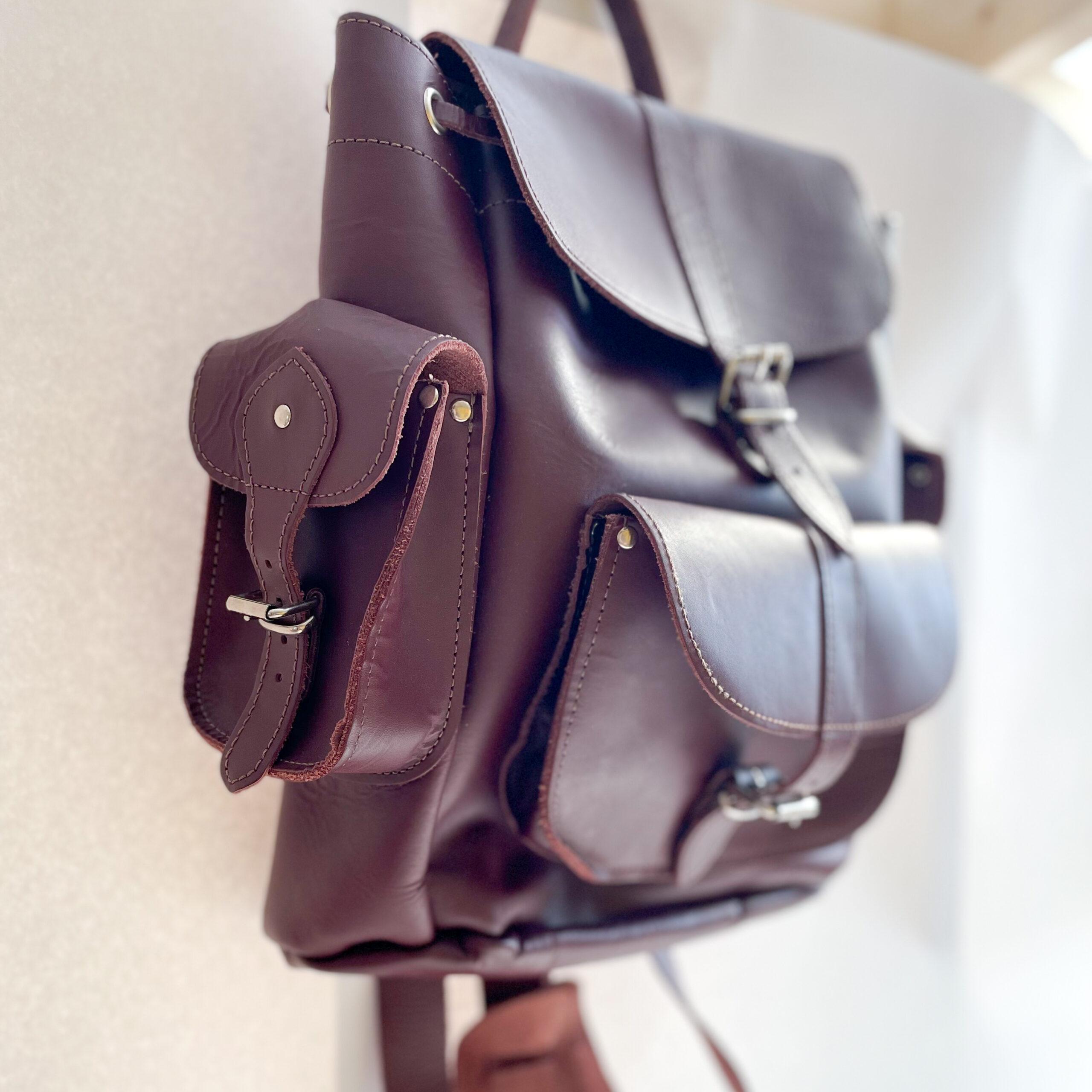 Right pocket side of Grafea Backpack